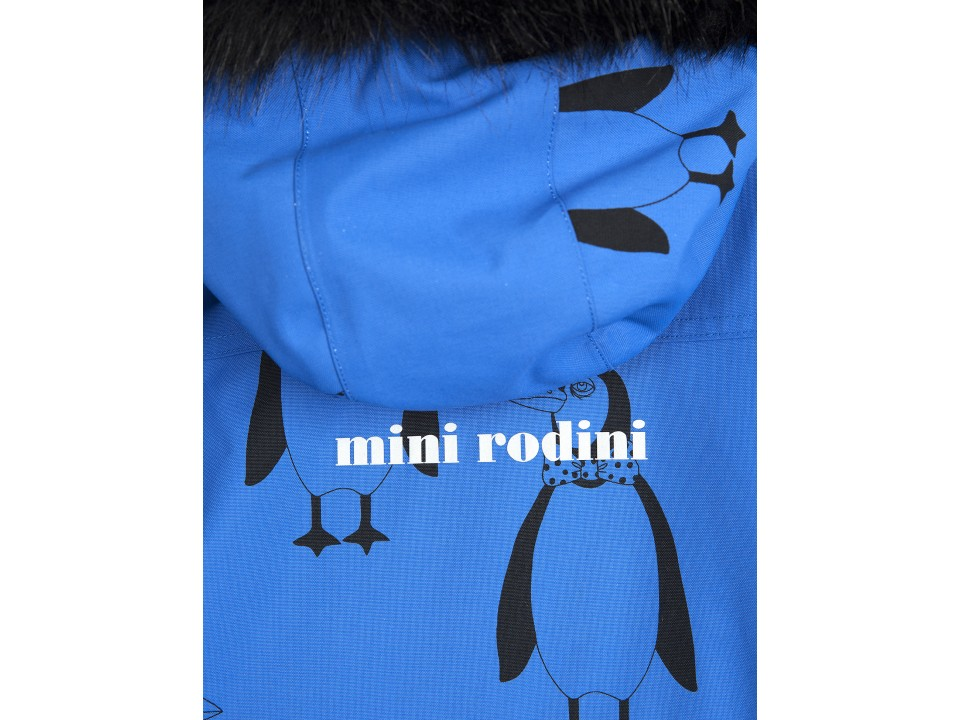 cd23b42b9 Mini Rodini Alaska PENGUIN Overall - Orange Mayonnaise