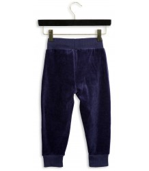 Mini Rodini Velours Sweatpants RABBIT Mini Rodini Velours Sweatpants RABBIT blue