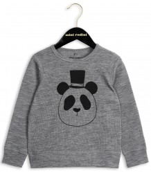 Mini Rodini Wool LS Tee PANDA Mini Rodini Wool LS Tee PANDA grey