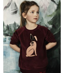 Mini Rodini Velours Sweatshirt RABBIT Mini Rodini Velours Sweatshirt RABBIT