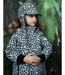 Mini Rodini Siberia LEOPARD Jacket Mini Rodini Siberia LEOPARD Jacket light blue