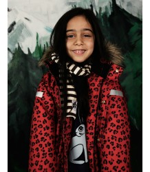 Mini Rodini Siberia LEOPARD Jacket Mini Rodini Siberia LEOPARD Jacket red