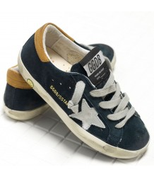 Golden Goose Superstar SUEDE Golden Goose Superstar Navy Cuoio