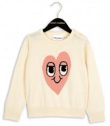 Mini Rodini Heart Knit Sweater Mini Rodini Heart Knit Sweater