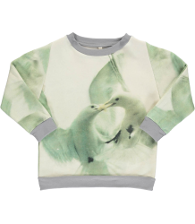 Popupshop Loose Sweat WHITE BIRDS Popupshop Loose Sweat WHITE BIRDS