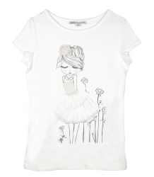 Patrizia Pepe Girls T-shirt with Girl - OUTLET Patrizia Pepe Girls T-shirt with Girl