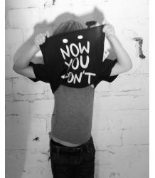 Stella McCartney Kids Arrow T-Shirt NOW YOU SEE ME Stella McCartney Kids Arrow T-Shirt NOW YOU SEE ME, NOW YOU DONT