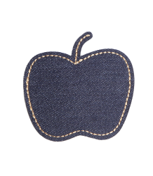 bij Kiki Iron-on Patch Denim APPLE bij Kiki Iron-on Patch Denim APPLE