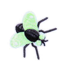 bij Kiki Iron-on Patch FLY bij Kiki Iron-on Patch FLY  glow in the dark