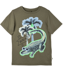 Stella McCartney Kids Arrow T-Shirt CROCO BEACH Stella McCartney Kids Arrow T-Shirt CROCO BEACH