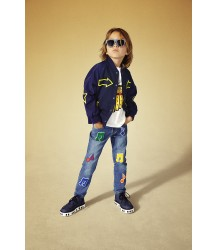 Stella McCartney Kids Lohan Denim Trouser BADGES Stella McCartney Kids Lohan Denim Trouser BADGES