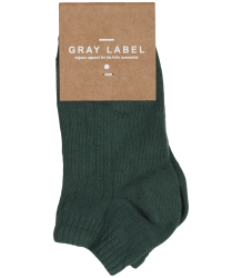 Gray Label Short Ribbed Socks 2-pack Gray Label Summer Ribbed Socks sage and black