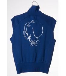 Bobo Choses Sleeveless Zip Sweatshirt THE CYCLIST Bobo Choses Sleeveless Zip Sweatshirt THE CYCLIST