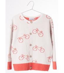Bobo Choses Knit Cardigan THE CYCLIST AOP Bobo Choses Knit Cardigan THE CYCLIST AO
