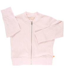 Tiny Cottons Holes Bomber Cardigan Tiny Cottons Holes Bomber Jacket soft pink