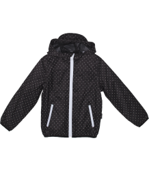 Gosoaky The Gift Horse Unisex Packable Jacket Gosoaky The Gift Horse Unisex Jas met Tasje black dots