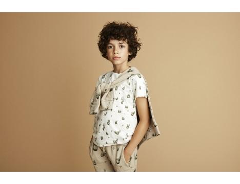 Soft Gallery Bass T-shirt MINI CACTUS aop