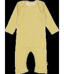 Kidscase Scott Organic NB Suit Kidscase Scott Organic NB Suit yellow stripe