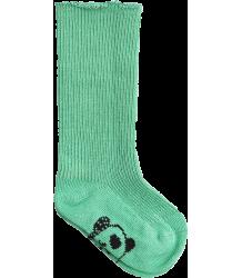 Mini Rodini PANDA Baby Sock Mini Rodini PANDA Baby Sock green