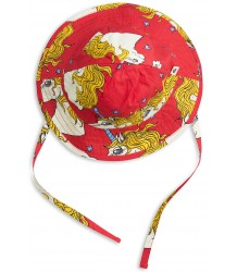 Mini Rodini UNICORN Star Sun Hat Mini Rodini UNICORN Star Sun Hat red