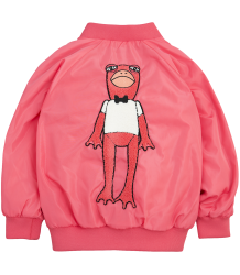 Mini Rodini FROG Baseball Jacket Mini Rodini FROG Baseball Jacket cerise