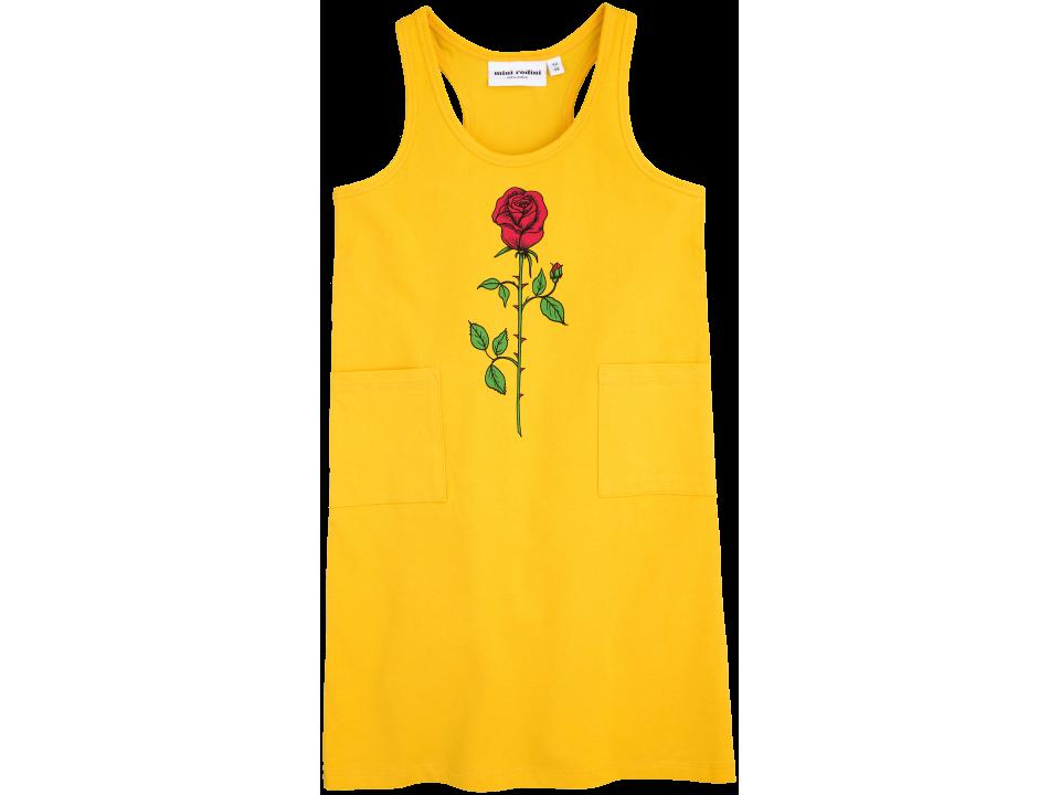3fd3a3acb Mini Rodini ROSE print Tank Dress - Orange Mayonnaise