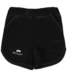 Beau LOves Old School Cotton Shorts EMBROIDERIES Beau LOves Old School Cotton Shorts EMBROIDERIES BLACK