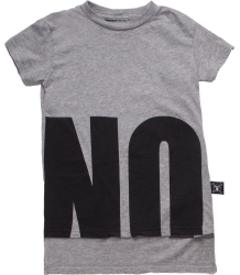 Nununu NO! T-shirt Double Length Nununu NO! T-shirt Double Length grey melange