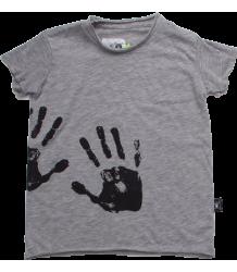 Nununu Raw T-shirt HAND PRINT Nununu Raw T-shirt HAND PRINT grey melange