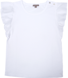 Emile et Ida Tee Shirt RUFFLE Emile et Ida Tee Shirt RUFFLE white