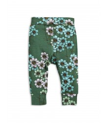 Mini Rodini DAISY NB Leggings Mini Rodini DAISY NB Leggings green