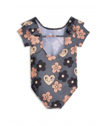 Mini Rodini Short Sleeve Swimsuit FLOWERS Mini Rodini Short Sleeve Swimsuit FLOWERS
