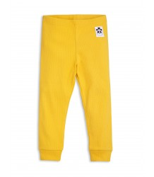 Mini Rodini Solid Rib Leggings Mini Rodini Stripe Rib Leggings yellow