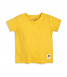 Mini Rodini Solid Rib SS Tee Mini Rodini Solid Rib SS Tee yellow