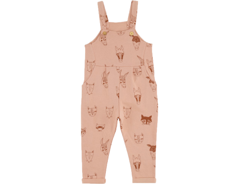 Soft Gallery Willow Sweat Dungarees ANIMALS