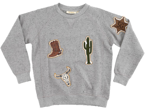 Soft Gallery Kipp Sweatshirt COWBOY patches
