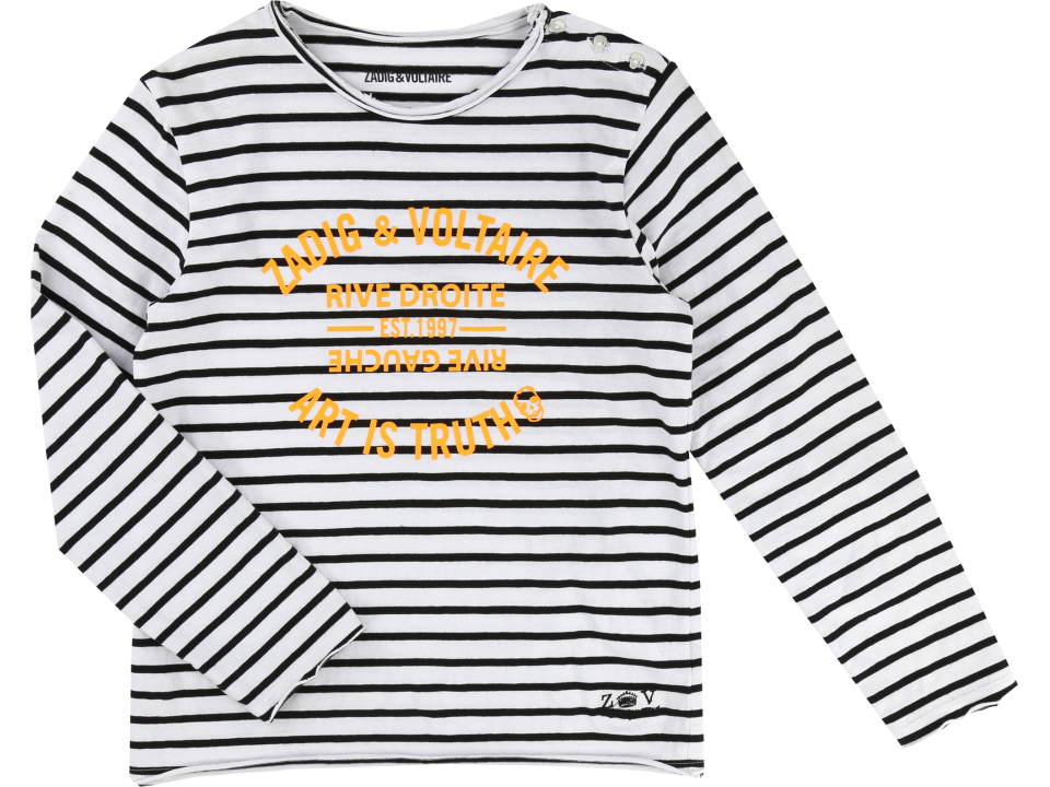 036a10c6ed3c Zadig   Voltaire Kid Tee-shirt Striped RIVE DROITE - Orange Mayon