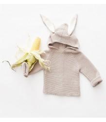 Oeuf NYC Bunny Hoodie Oeuf NYC Bunny Hoodie grey knit