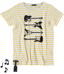 Yporqué Striped GUITARS Tee Yporque Striped GUITARS Tee