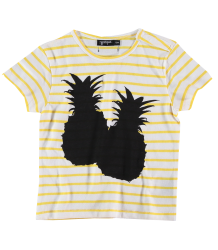Yporqué Striped PINEAPPLE Baby Tee Yporqu? Striped PINEAPPLE Baby Tee