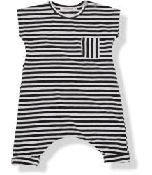 1+ in the Family Ferran Jumpsuit 1  in the Family Ferran Jumpsuit striped black and white