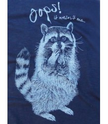 Lion of Leisure T-shirt RACCOON Lion of Leisure T-shirt RACCOON indigo