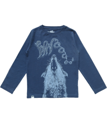 Lion of Leisure T-shirt LS WOLF Lion of Leisure T-shirt LS WOLF indigo blue