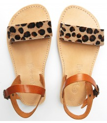 Théluto Andrea Sandales Theluto Andrea Sandales Leopard Camel