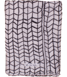 Noé & Zoë Swaddle BLACK WAVE GRID Noe & Zoe Swaddle BLACK WAVE GRID