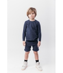 Nola - Long Fit Kid Sweater Icecream Bandits Nola - Long Fit Kid Sweater blue