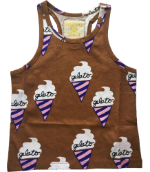 Hugo Loves Tiki Tank Top CHOCOLATE GELATO Hugo Loves Tiki Tank Top CHOCOLATE GELATO