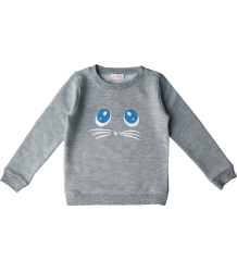 Simple Kids MIAUW Sweatshirt Simple Kids MIAUW Sweatshirt grey melange