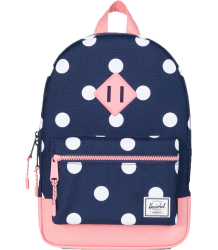 Herschel Heritage Backpack Kid Herschel Heritage Kids peacoat polka dot