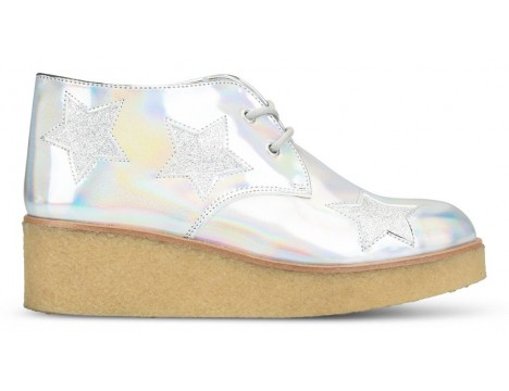 Stella McCartney Kids Wendy Glitter Wedge Boots STAR